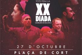 XX Diada de los Castellers de Mallorca en la Plaça de Cort de Palma