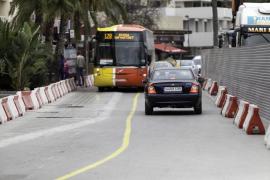 El transporte público sufrirá alteraciones por el cierre de la avenida Santa Eulària de Ibiza