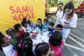 Los talleres escolares para conocer el Servicio de Urgencias de Ibiza, en imágenes (Fotos: Daniel Espinosa).