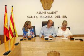 Convenio entre Santa Eulària y es Mercat para promocionar digitalmente el comercio tradicional