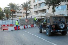 El cierre de la avenida Santa Eulària provoca quejas por la ordenación del tráfico