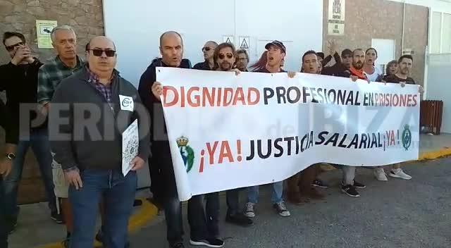 Los trabajadores de prisiones de Ibiza secundan ampliamente la primera jornada de huelga