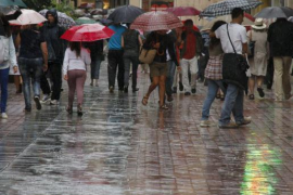 Alerta naranja por lluvias en Ibiza