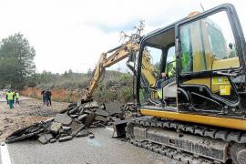 Abaqua prevé restablecer el tráfico en el Camí de s'Olivera el lunes