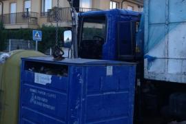 Recogida de contenedores de reciclaje en Marratxí