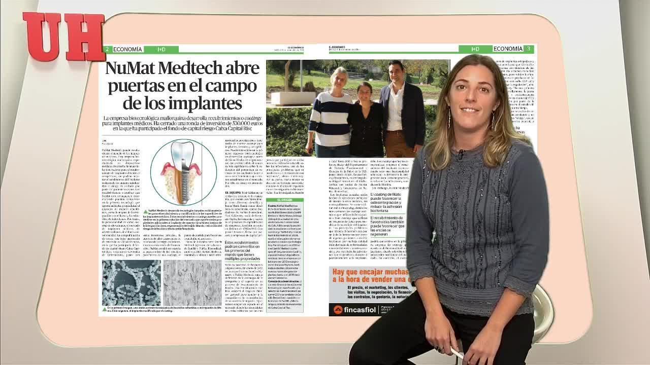 NuMat Medtech abre puertas en el campo de los implantes