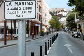El barrio de la Marina es de acceso libre hasta el próximo mes de mayo