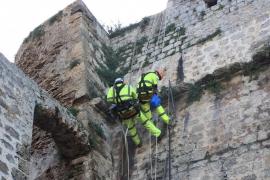 Instalan drenajes en las murallas de Ibiza para reducir la humedad