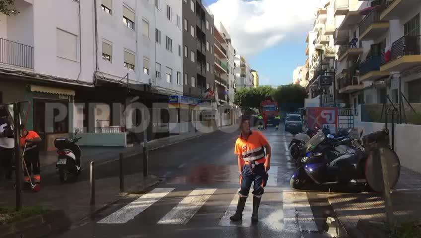 Vila inicia la limpieza intensiva del barrio de ses Figueretes