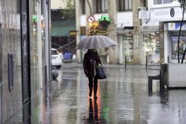 Activada la alerta naranja en las Pitiusas por fuertes lluvias