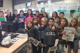 """""""Estar bien informado es muy importante"""", es el titular de la primera noticia publicada por los alumnos del CEIP Sant Antoni tras su visita al Periódico de Ibiza y Formentera"""