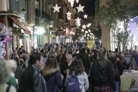 Calles comerciales de Palma en Navidad