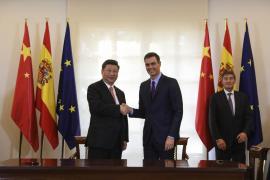 Xi Jinping y Pedro Sánchez