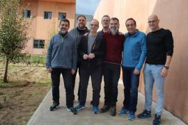 Los políticos presos en Lledoners, juntos en una foto