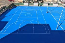 Vila finaliza la sustitución del nuevo pavimento en el patio del colegio de sa Graduada