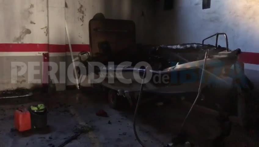 Seis heridos y 200 desalojados por el incendio de un barco en un garaje de Cala Pinet