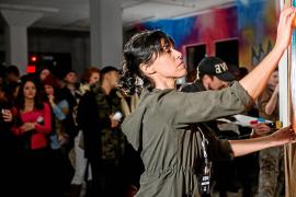 Aida Miró, una ibicenca en Art Battle de Nueva York
