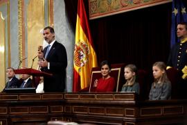 El rey Felipe VI, durante el 40 aniversario de la Constitución