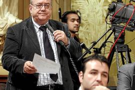 Miguel Gascón cuando era diputado en el Parlament