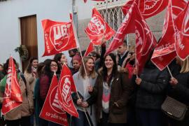 Huelga de trabajadores del centro Gaspar Hauser en Palma.