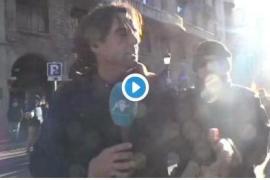 Agredido un reportero de Intereconomía durante las protestas del 21D