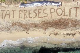 El CDR de Formentera: la muestra más visible de apoyo al independentismo en Balears