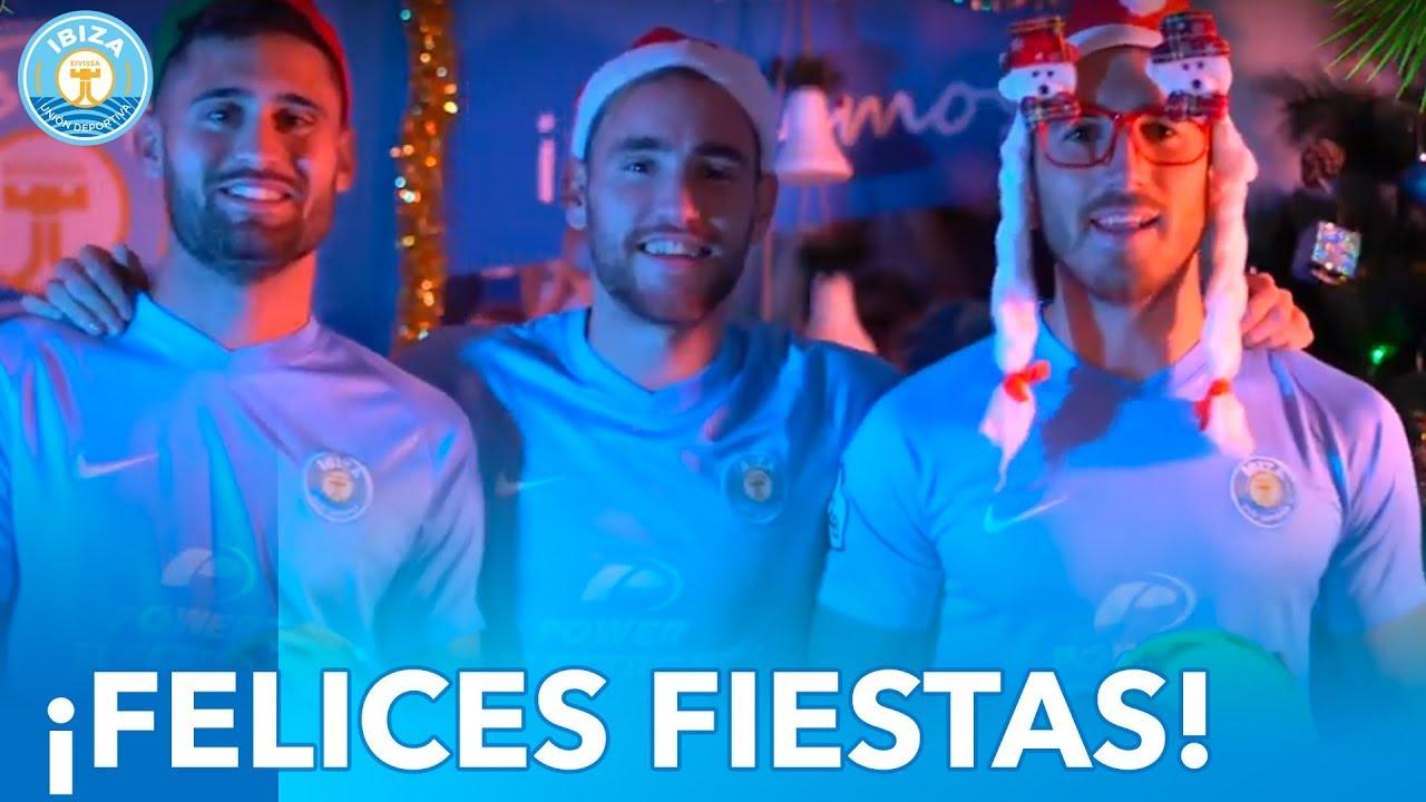 La simpática felicitación navideña de la UD Ibiza