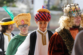 La representación del tradicional belén viviente en Sant Josep, en imágenes (Fotos: Arguiñe Escandón).