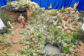 Un belén ambientado un año más en el entorno natural del Puig de Missa