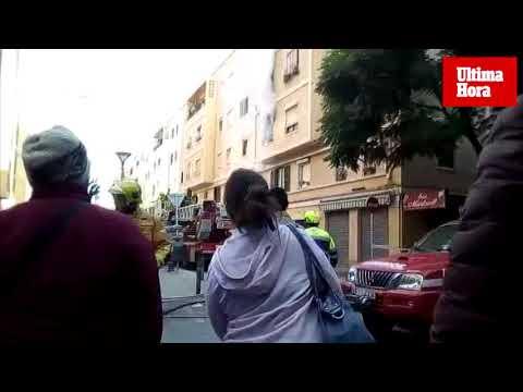 Espectacular incendio en Palma