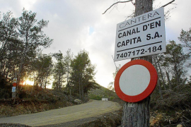 El Consell da el visto bueno a la planta de residuos de construcción en la cantera Canal d'en Capità
