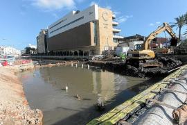 Concluidos los trabajos de cimentación del nuevo marco del puente sobre sa Llavanera