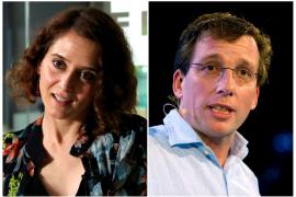 Díaz Ayuso, candidata del PP a la Comunidad de Madrid, y Almeida, a la Alcaldía