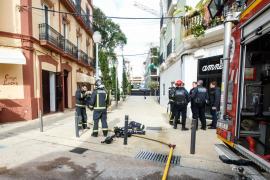 El incendio ocasionado en el centro de Vila, en imágenes (Fotos: Arguiñe Escandón)