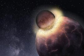 La colisión que formó la Luna pudo hacer viable la vida en la Tierra