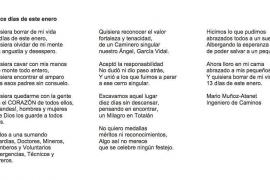 El emotivo poema de un ingeniero del rescate de Julen