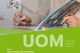 La Universitat Oberta per a Majors llega este viernes a Formentera