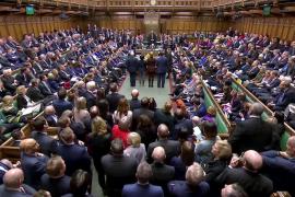 La Cámara de los Comunes durante la sesión sobre el Brexit