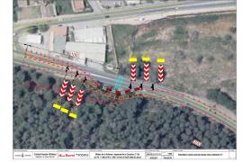 Las obras de la vía de Ca na Negreta obligan a desviar el tráfico de la carretera de Santa Eulària