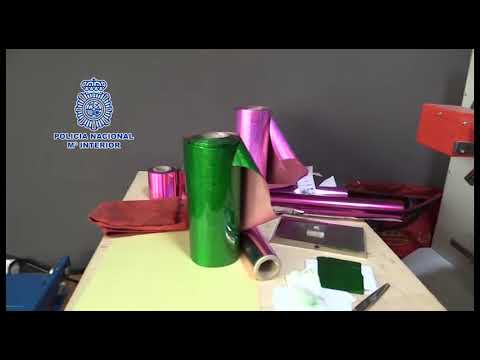 Un detenido en Ibiza tras desmantelar en Madrid el mayor laboratorio de falsificación documental