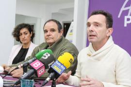 Aitor Morrás, cabeza de lista de Podemos en Ibiza y Marta Maicas, en Santa Eulària