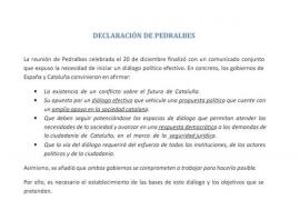 El Gobierno ofreció a los independentistas plantear «con total libertad» sus propuestas en la mesa de partidos