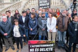 El soberanismo lanza un ciclo de protestas contra el juicio con tres marchas y una huelga
