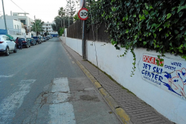 Santa Eulària espera empezar «pronto» la ampliación de las aceras de la calle del Río