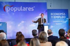 """Casado advierte que España se juega en las próximas elecciones seguir siendo """"una nación unida"""""""
