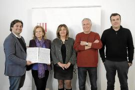 Pablo Mielgo, Carme Riera, Fanny Tur, Antoni Parera Fons y Pere Bonet