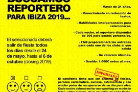 Una revista de Ibiza ofrece 1600 euros por salir todos los días de fiesta