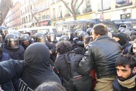 Seis detenidos al tratar de impedir el desahucio de cuatro familias en Madrid
