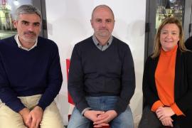 Pep Lluís Colom, Jaume Mateu y Mercedes Garrido.