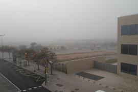 Niebla en Palma el Dia de les Illes Balears